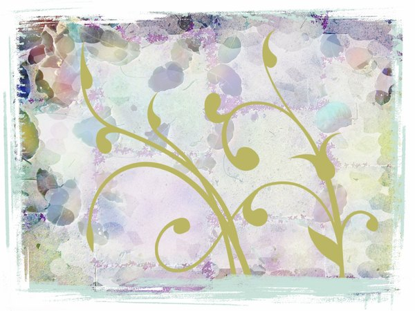 Swirls on Grunge 2: A grungy background with ornate swirls.