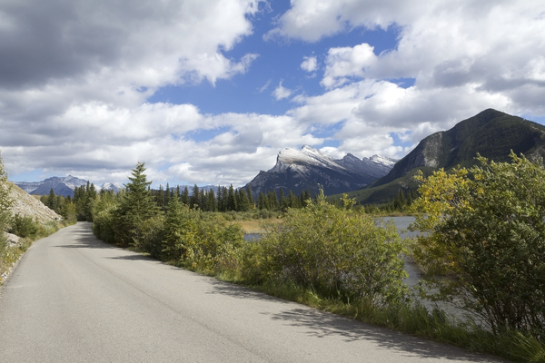 Rural road: A rural road near Banff, Canada.