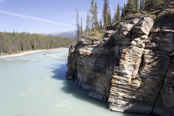 River view: The Athabasca River, Canada.