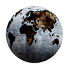 grunge globe