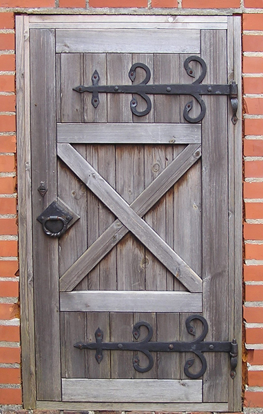 Wooden door: A wooden door of a castle