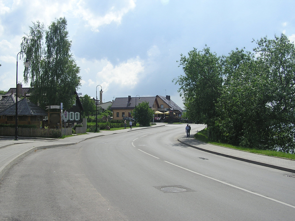 A road in Trakai: A road in Troki (Trakai) in Lithuania.