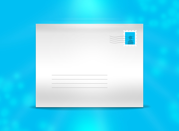 Mail message: A vector envelope representing an e-mail or normal mail message.