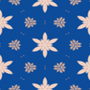 Blue Floral Tile