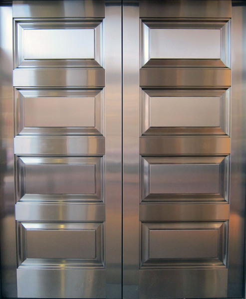 Stainless Steel: Stainless steel door.