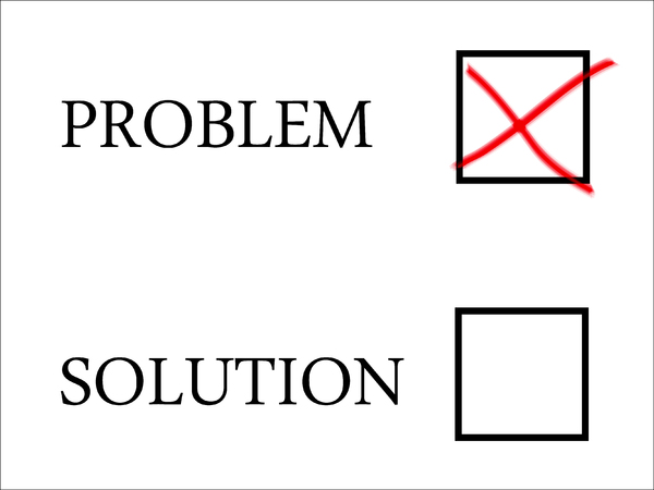 Problem: Problem selection with red cross in tick-box.