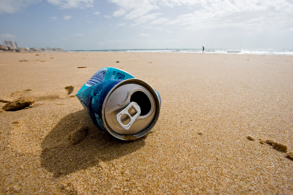 Trash on the beach: Some people don't remember the basics...