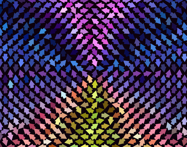 Arrow Background Pattern 2: A background, texture, fill, etc. of arrows pointing in all directions.