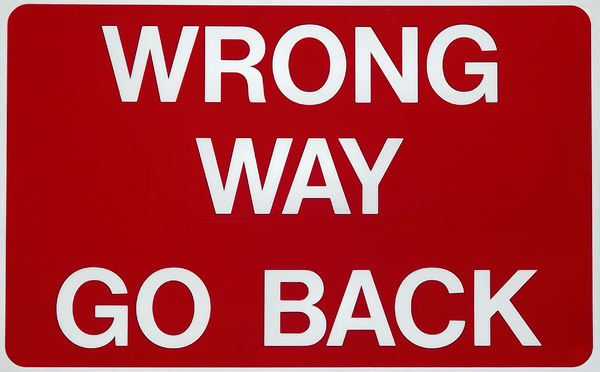 wrong way1: traffic warning sign
