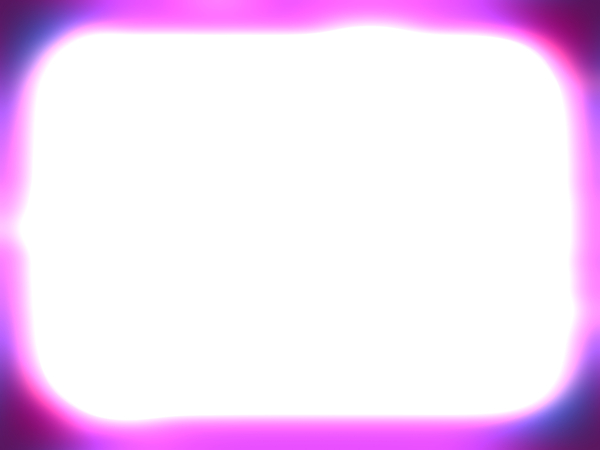Neon Grunge Border 2: A rounded rectangle grunge border or frame in neon colours with a white background and plenty of copyspace.
