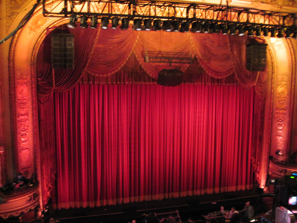 Old cinema: Cinema curtain