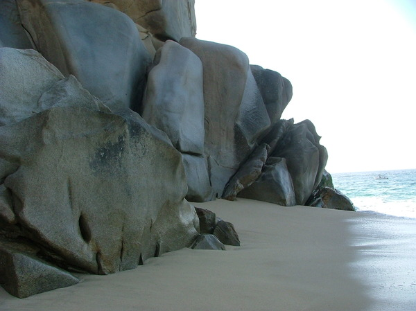 Rocks at Lands End, Cabo: Granite rocks on the beach at Lands End, Cabo San Lucas, Mexico