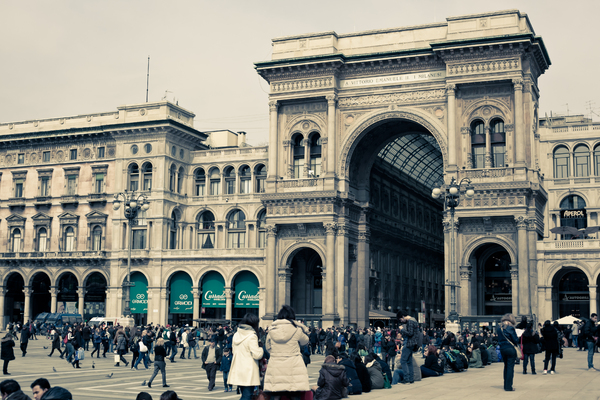 Scene from Milan 2: Photo of Galleria Vittorio Emanuele II in Milan
