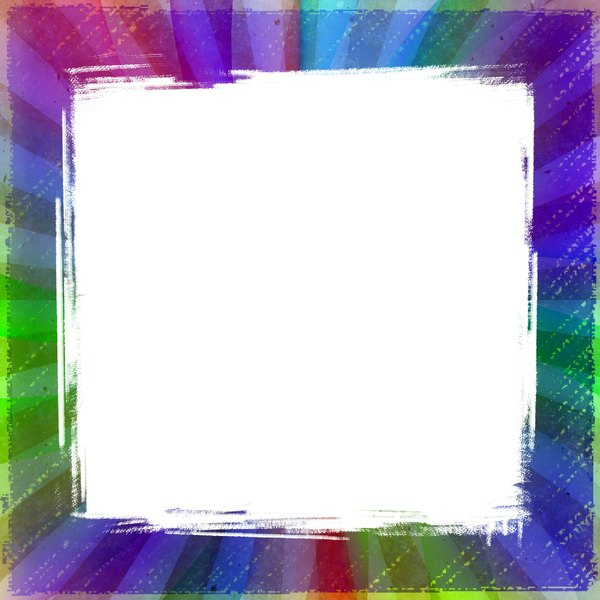 Burst Frame 5: A burst frame in rainbow colours and white. You may prefer this:  http://www.rgbstock.com/photo/nbLIzOw/Burst+Frame  or this:  http://www.rgbstock.com/photo/nPGDBY4/Grunge+Film+Frames+1