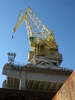 a crane of the shipyard