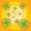 Clover on orange 2