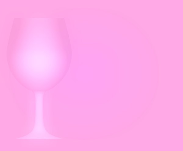 Wineglass Border 1: A pink backdrop with a wineglass outline on one side.
