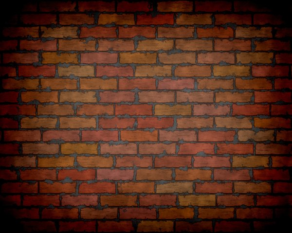 Brick Wall with Vignette 1: A very high resolution graphic brick wall with messy mortar and a vignette. Please use according to RGB image license. You may prefer this: http://www.rgbstock.com/photo/nN2ggxa/Graphic+Bricks+2 or this: http://www.rgbstock.com/photo/nL9jKIq/Graphic+Brick