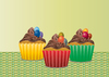 Easter Cupcakes trio