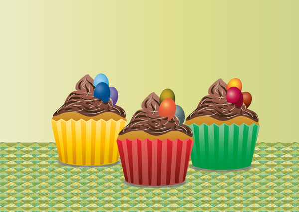 Easter Cupcakes trio: Easter Cupcakes trio