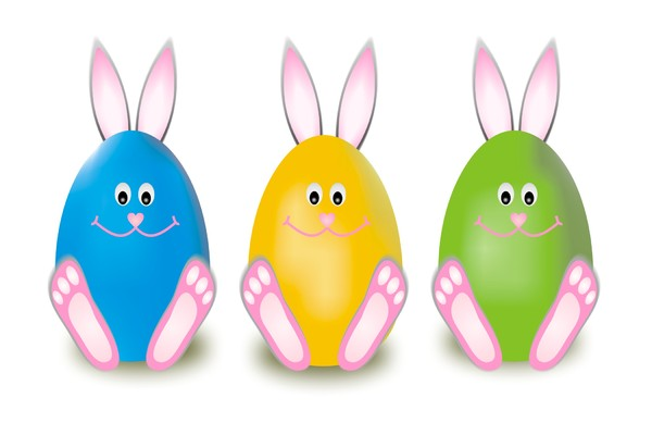 Easter bunny: Easter cards to your own work in few versions