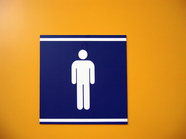 Man pictogram: Male restroom pictogram