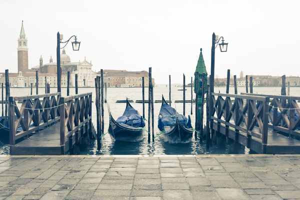 Gondolas In Venice 2: Photo of gondolas in Venice