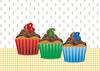 RGB Cupcakes