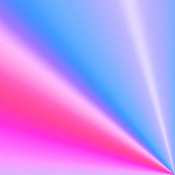 Corner Flare 1: A corner flare or burst in bright pastel colours.
