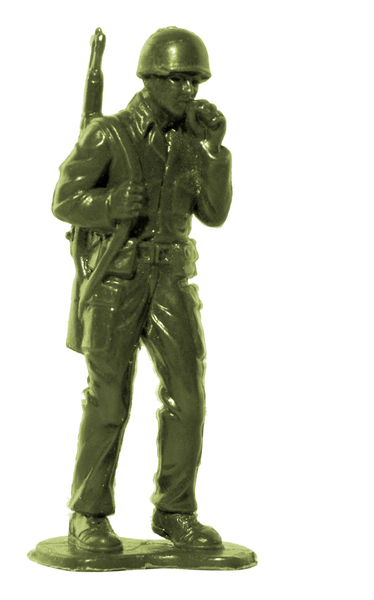 Plastic Army Man: Plastic toy soldier