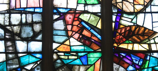 Stained glass windows: Stained glass windows from an English church