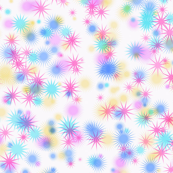 Colourful Star Background 3: A background decorated with fantasy stars in multi-colours. Hi res.