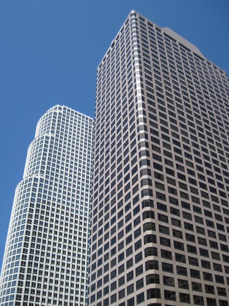 Los Angeles office buildings: Some buildings in Los Angeles.