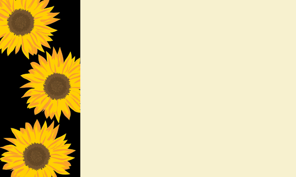 Nature Banner 8: A banner or card with a nature theme - sunflowers.