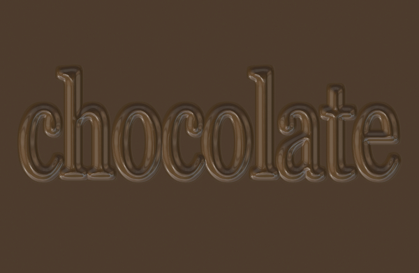 Chocolate 1: A tasty chocolate bar with the word