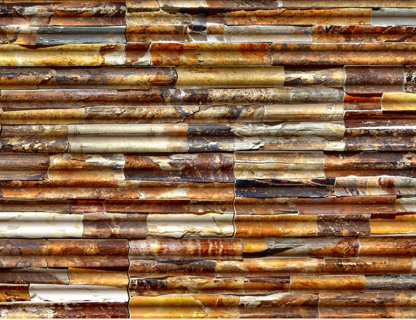 rusty corrugations1: abstract background, textures, patterns, geometric patterns, shapes and perspectives