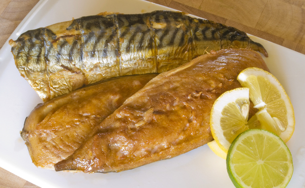 Smoked mackerel: Smoked Mackerel with lime & lemon