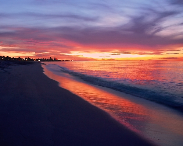 Varadero beach sunset 3: Ready to become your screen wallpaper