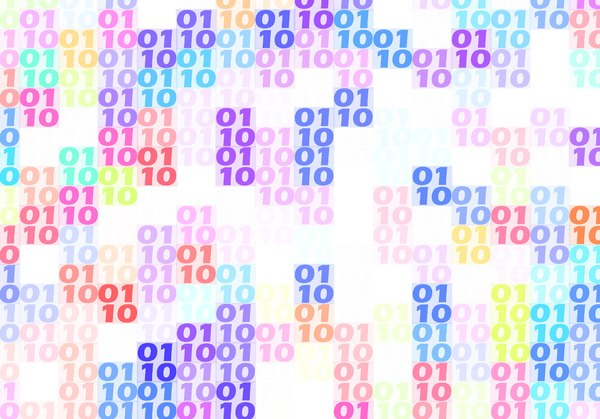 Binary Background 19: A binary background texture in rainbow colours. You may prefer:  http://www.rgbstock.com/photo/o37sc04/Binary+Background+13  or:  http://www.rgbstock.com/photo/mWTgMeW/Binary+Background+4  or:  http://www.rgbstock.com/photo/mWTgMbI/Binary+Background+3