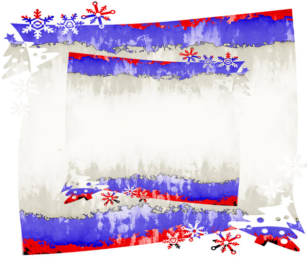 Christmas Grunge Banner: A grungy Christmas banner in red, white and blue, with snowflakes and trees. You may prefer:  http://www.rgbstock.com/photo/ons9mwq/Christmas+Star+Frame+2  or:  http://www.rgbstock.com/photo/olsKxha/Christmas+Banner+7