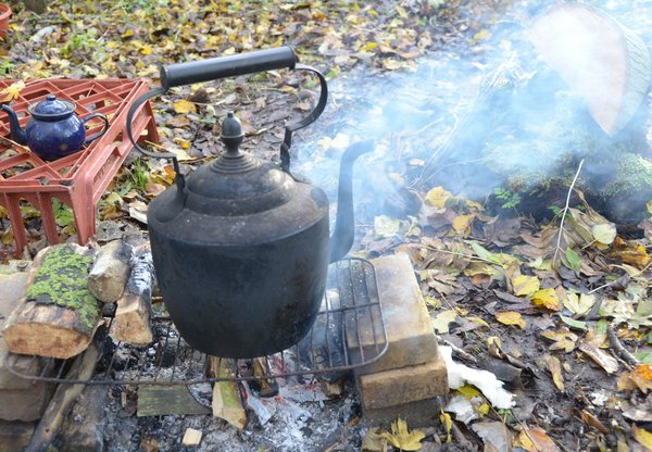Camp kettle: My trusty old camp kettle which provides me with endless tea!