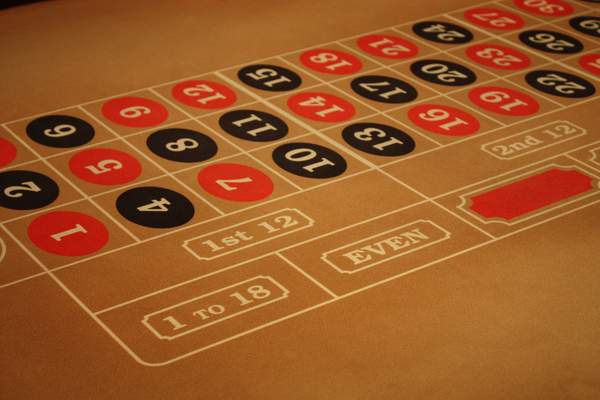 Roulette Table: Betting part on a roulette table