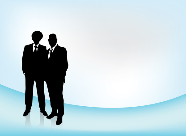 Business team - vector 1: Silhouettes of two business men. Its supposed to show teamwork. Its a complete vector so the quality must be good. I hope you can use it.Please leave a comment if you like it or use it. It stimulates me to create more stockphotos / vectors and credit me w