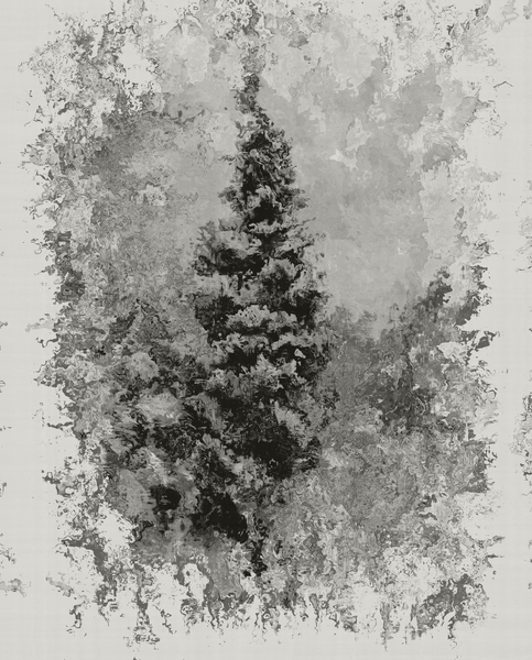 Grungy Tree 1: Made from a public domain image. A grungy, snowy winter scene with an impressionistic effect. You may prefer:  http://www.rgbstock.com/photo/2dyVQYr/Abstract+Christmas+Tree  or:  http://www.rgbstock.com/photo/ngpT7LI/Candy+Cane+Tree