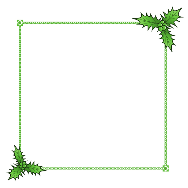 Holly Border 3: A festive border with a holly theme.