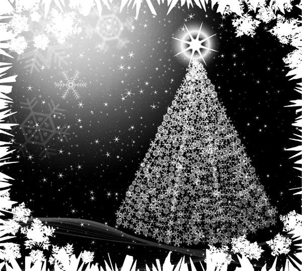 Christmas Star Border Black And White Snowflake tree 1: a christmas