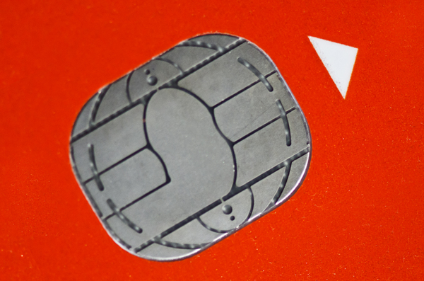 ATM chip: Chip on a bank or ATM card