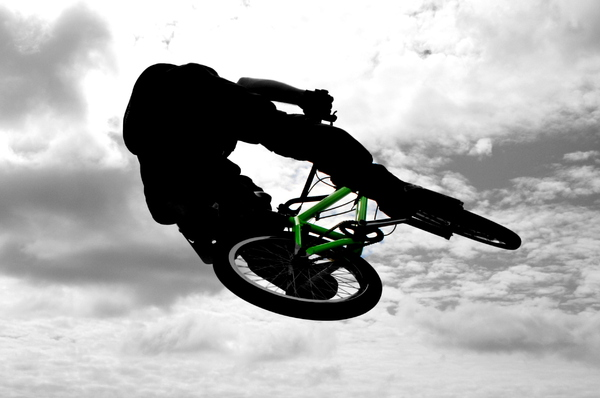 BMX: BMX rider in flight
