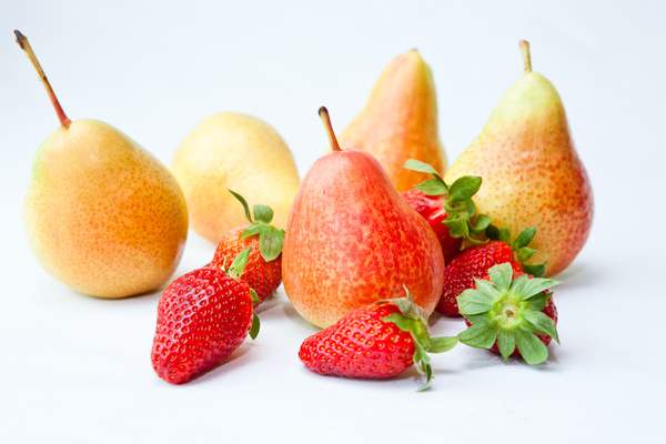 Fresh Fruits 1: Photo of fresh strawberries and honey pears