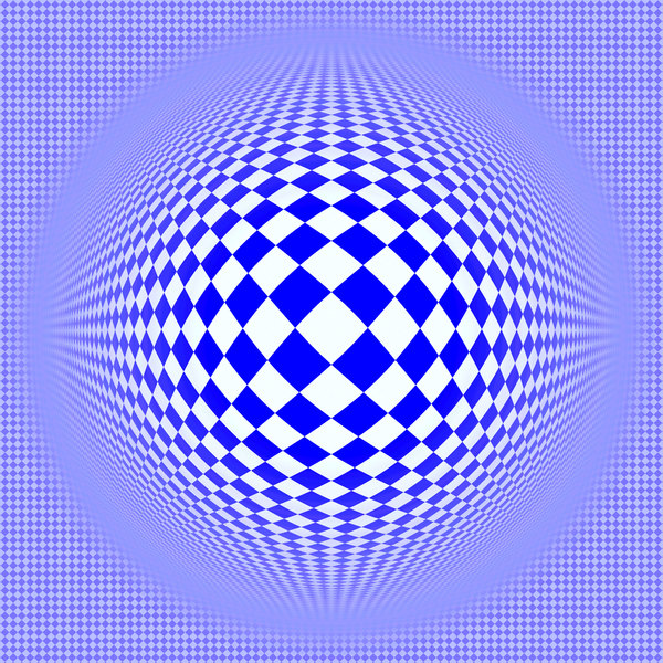 Op Art 5: A colourful op-art 3d warp image made of geometric diamond shapes.